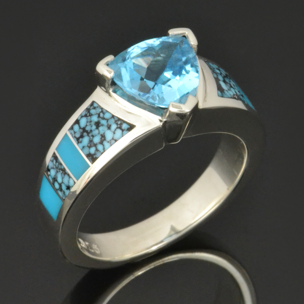 Topaz and turquoise cowgirl ring