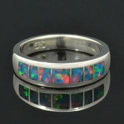 Multi-color Lab Opal Band