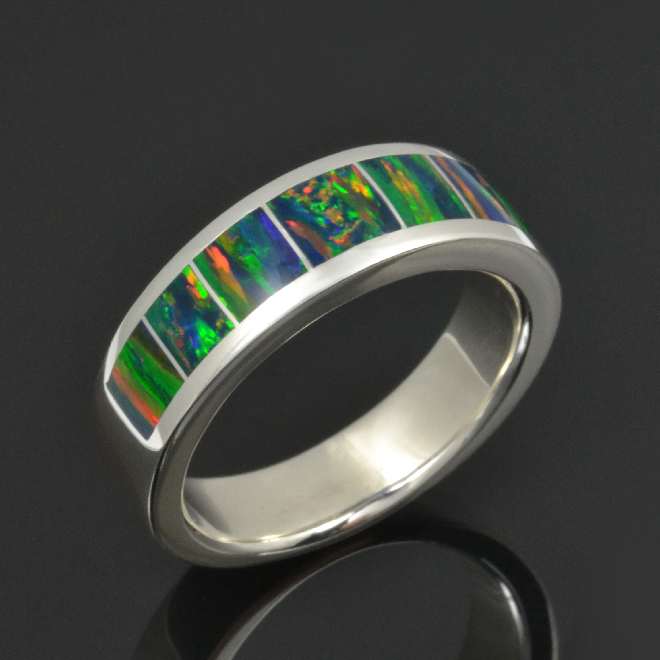 Man's Lab Opal Wedding Ring