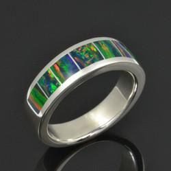 Man's Lab Opal Wedding Ring