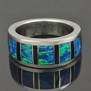 Men's Lab Opal Rings