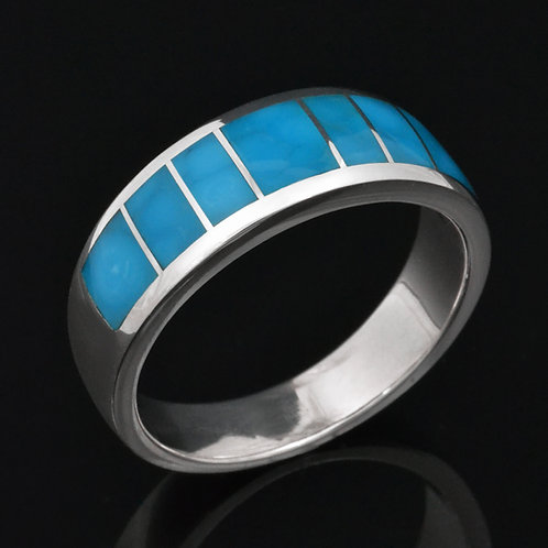 Birdseye Turquoise Ring in Sterling Silver