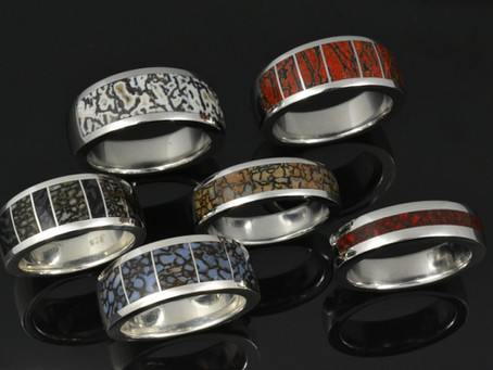 Dinosaur Bone Rings In A Variety of Colors