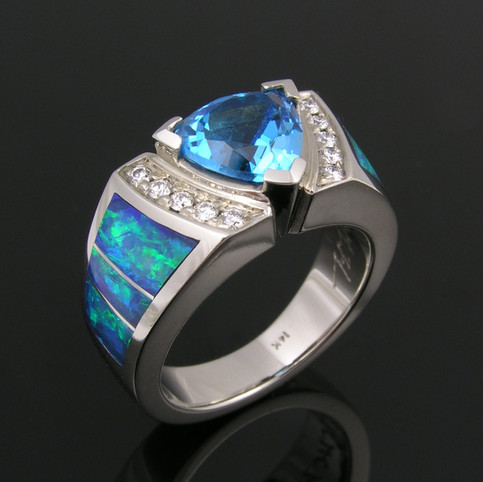 Topaz and Opal Ring