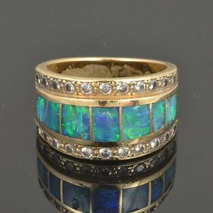 Australian opal ring in need of repair