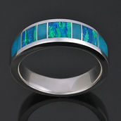Turquoise and lab opal ring