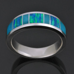 Man's Band with Turquoise and Lab Opal