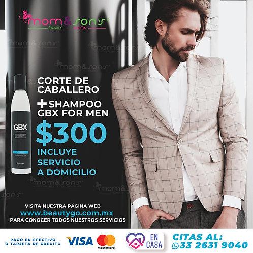 Corte de caballero +Shampoo for men GBX