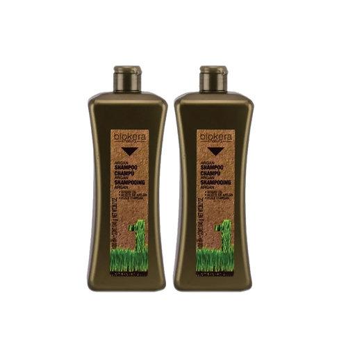 2 Shampoos Argan Biokera Salerm 1 Litro