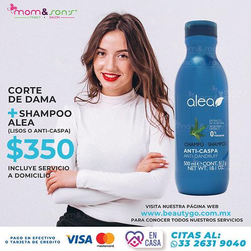 Corte de dama +Shampoo Alea (Lisos o Anti Caspa