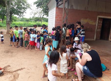 Future Kind Distributes Anti-parasitics to Ache Communities