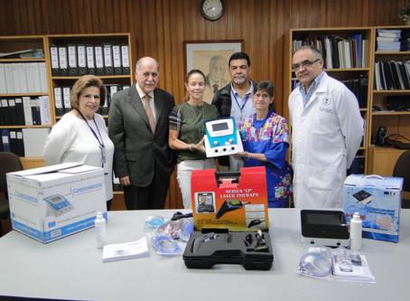 Entrega de equipos al Servicio de Medicina Física y Rehabilitación
