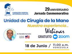 Jornada Conmemorativa del 29 Aniversario de la Unidad de Cirugía de la Mano del HOI