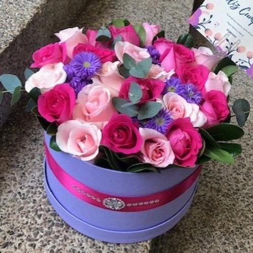 Caja Lilac 24 Rosas