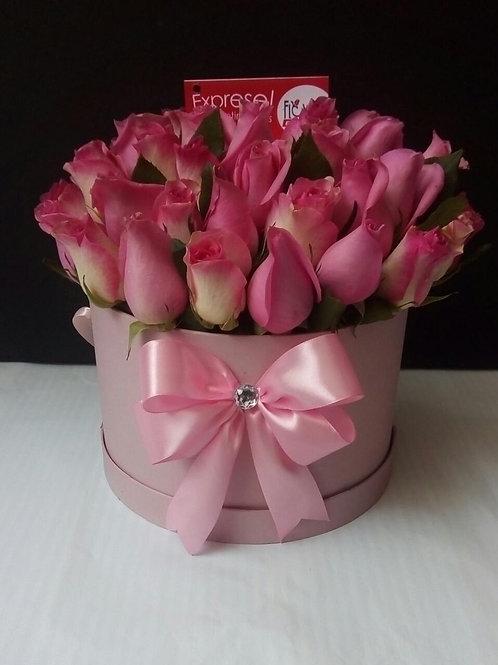 Caja Pink 36 Rosas