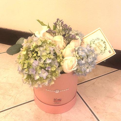 Caja Pink Pearl Petite Hortensias