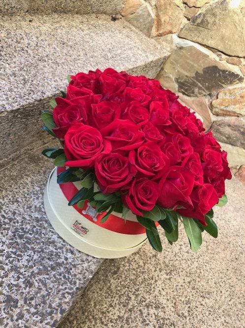 Caja Cream 48 Rosas