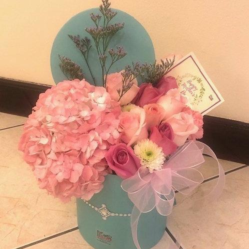 Caja Aqua Petite Hortensias Pink