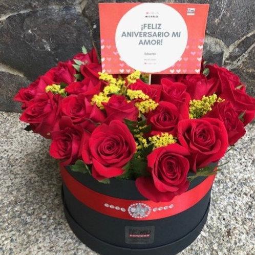 Caja Black 24 Rosas