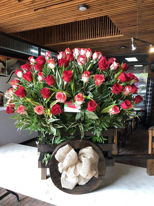 Carreta Premium de Rosas