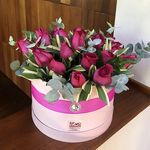 Caja Pink 24 Rosas