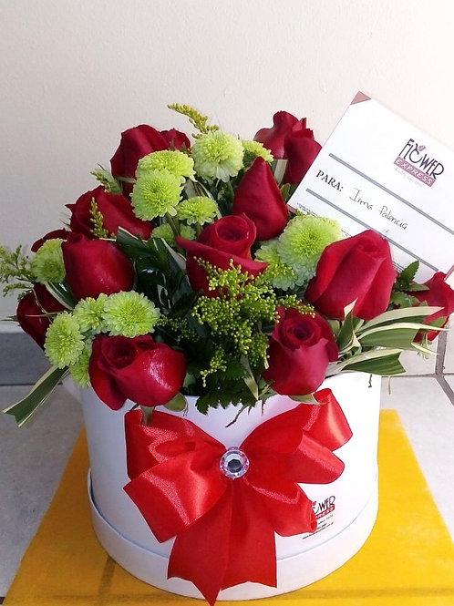 Caja White 24 Rosas