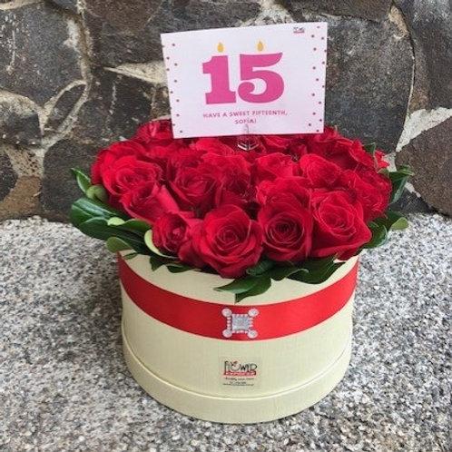 Caja Cream 36 Rosas