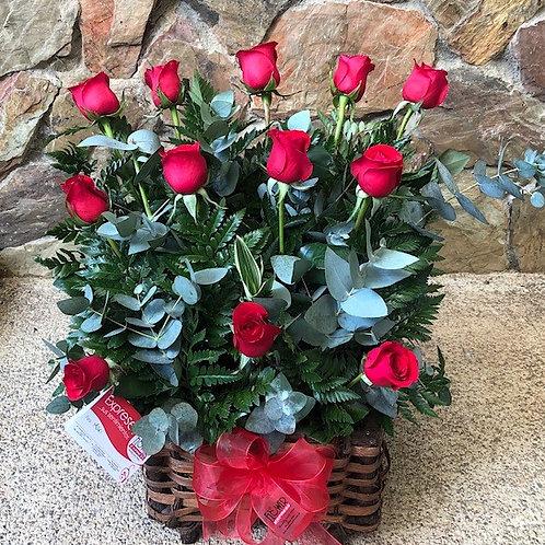 Cofre de 12 Rosas