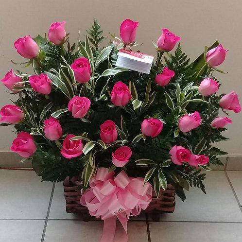 Cofre de 24 Rosas