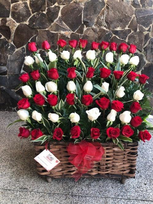 Cofre de 60 Rosas