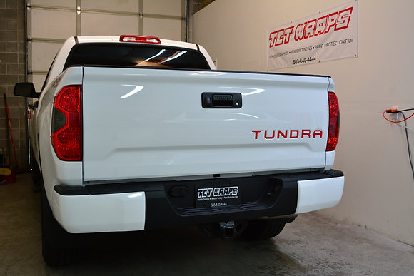 Rear Bumper Chrome Delete Wrap 14-20 Tundra