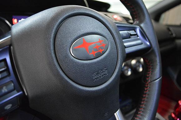 2015+ Subaru WRX STI steering wheel emblem overlay