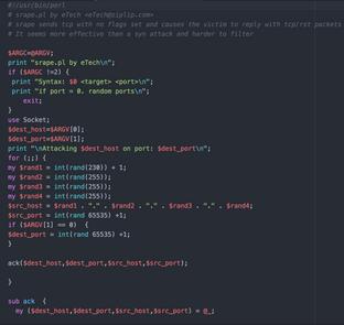Perl Script: TCP Attack