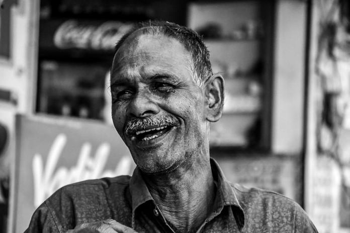 'happy old man'