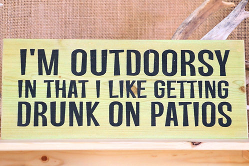 Outdoorsy Hanging Placard