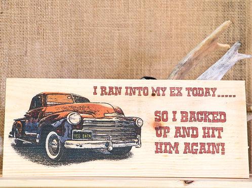 Vintage Truck Hanging Placard