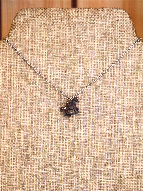 Delicate Horse Necklace