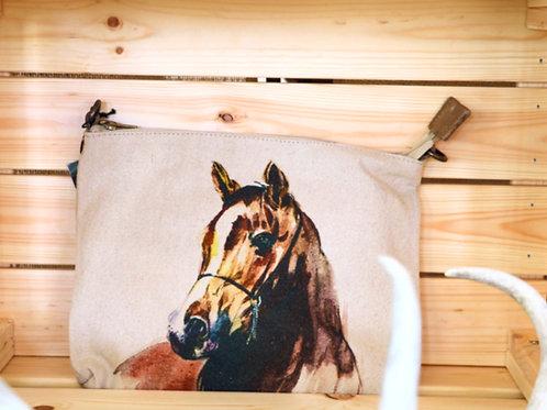 Canvas Horse Crossbody