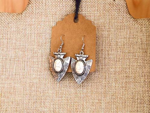 Silver Arrowhead Earrings