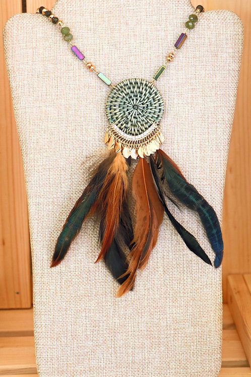 Green Dreamcatcher Necklace
