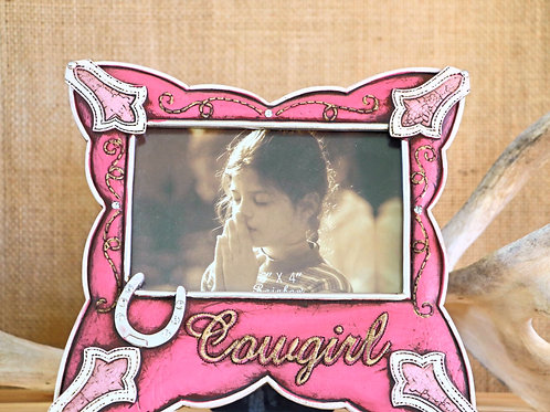 Pink Cowgirl 4 X 6 Picture Frame