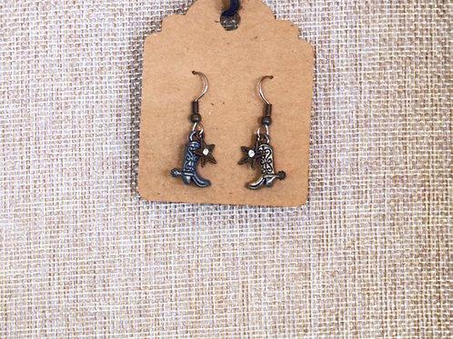 Delicate Cowboy Boot Earrings