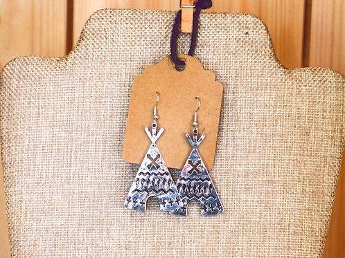 Silver TeePee Earrings