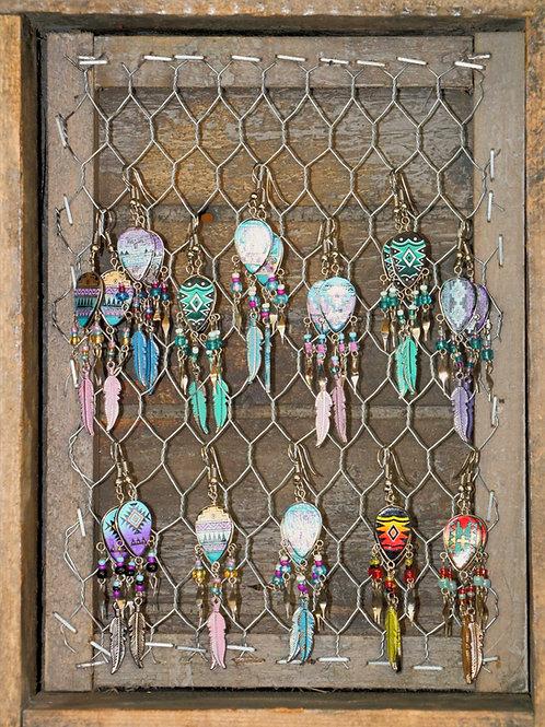 Teardrop Navajo Print Earrings