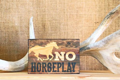 No Horse Play Placard