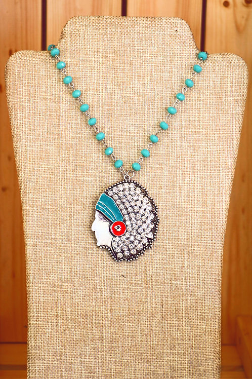 Rhinestone Chief Necklace