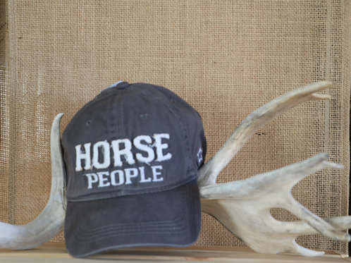 Grey Horse People Baseball Hat