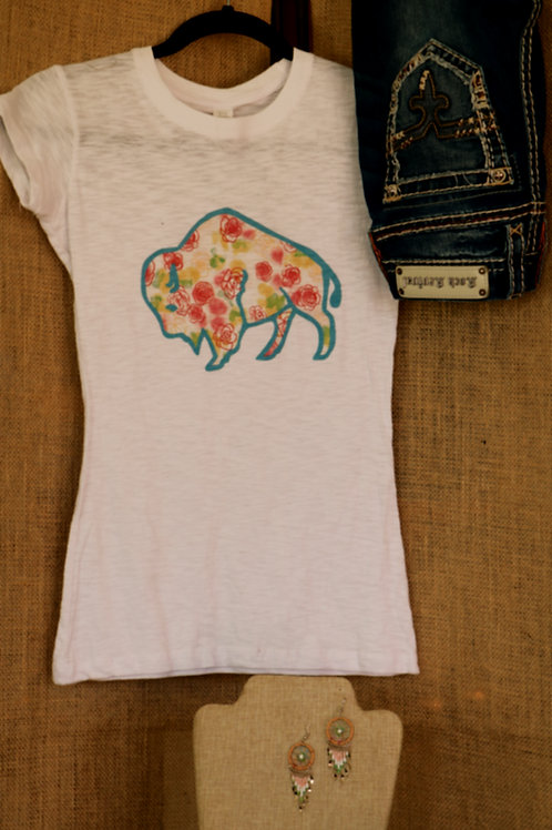 Floral Buffalo T Shirt
