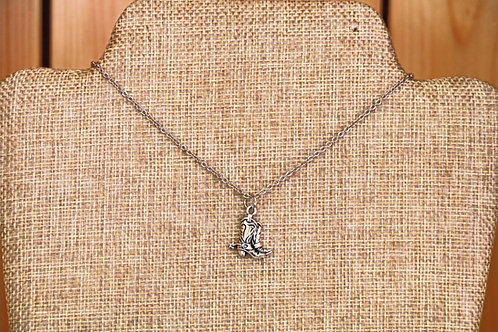 Delicate Cowyboy Boots Necklace