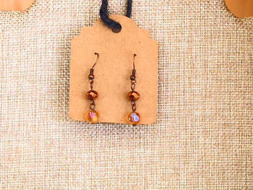 Bronze Beaded Earrings